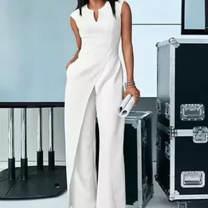 NY&Co white jumpsuit